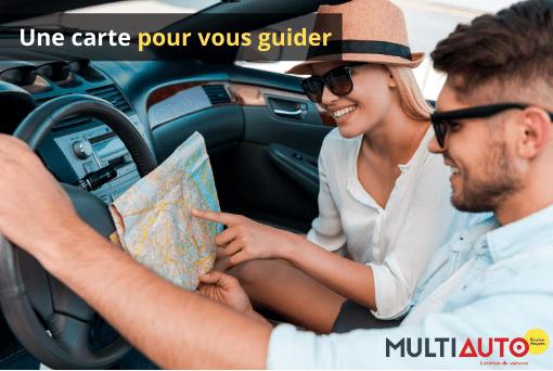 Location voiture réunion : Une simple carte suffit pour vous repérer sur l'île.